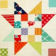 Scrap Jar Stars, pattern by A Little Bit Biased