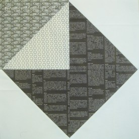 Quilt block in the shape of an envelope