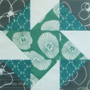 Grey and teal windmill block