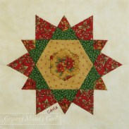 Patchwork Christmas star