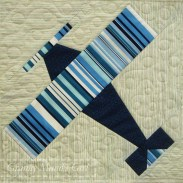 Aeroplane (airplane) quilt block