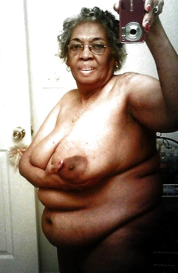 Old mature black granny