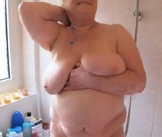 Bbw Wrinkled Old Lady Shower Her Nice Boobs