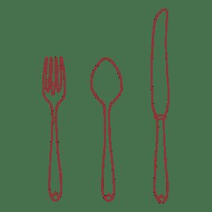 illustration of silverware