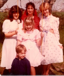 Jennifer, Nelda, Krista, Brady and Emily Adams