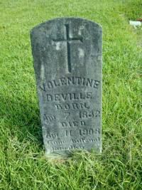 Valentine Deville's Headstone