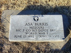 The Military Marker for Asa Burris