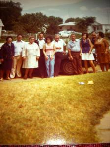 grandma burris, bucky. mae, earnie, katherine, charles, johnny, momma, james, & doris