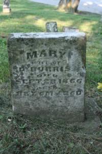 Headstone of Mary Horton Burris