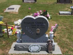 Rosa Lee Burris Clawson's Headstone