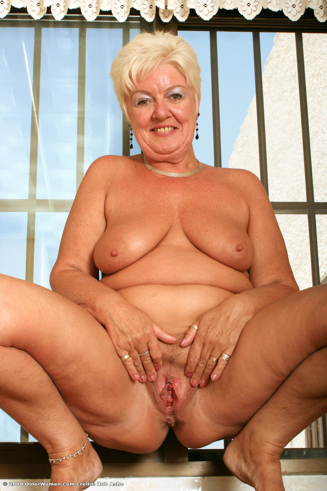 Horny old lady black gangbang 7
