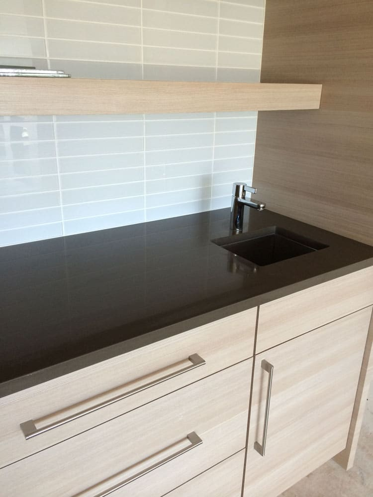 Complement your new custom bathroom countertops with a stunning backsplash!