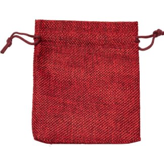 HP130 hessian-look drawstring pouches - 105 x 130mm