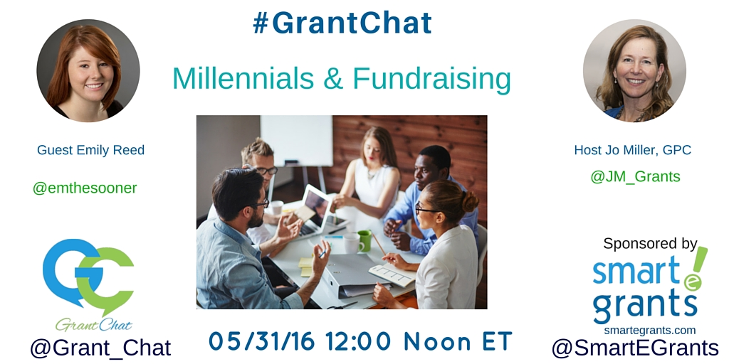 #Grantchat 053016 Millennials and Fundraising
