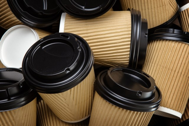 Take-out coffee cup