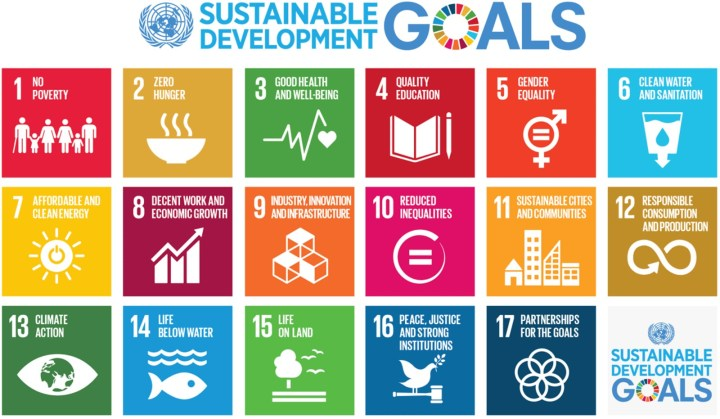 Graphic showing the 17 Sustainable Development Goals