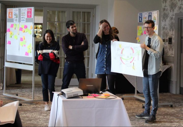 SSCP DTP students presenting at a workshop