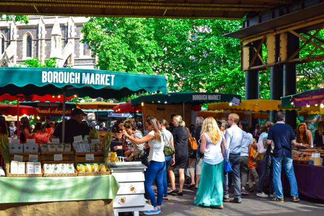 Borough Market on a busy summers day (pre-COVID-19)