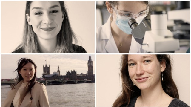 Portraits of the women featuring in the article, displayed clockwise from top left: Andrea Jagodic, Reka Tron, Dr Florence Gschwend and Dr Zhixuan Wang (the same images that feature in the blog below).