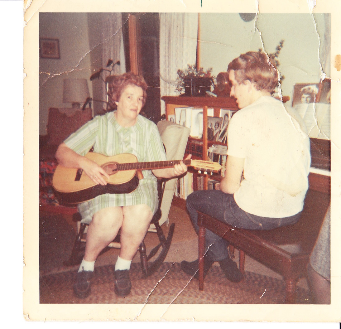 Grandma Yonkman with Dad at the Piano