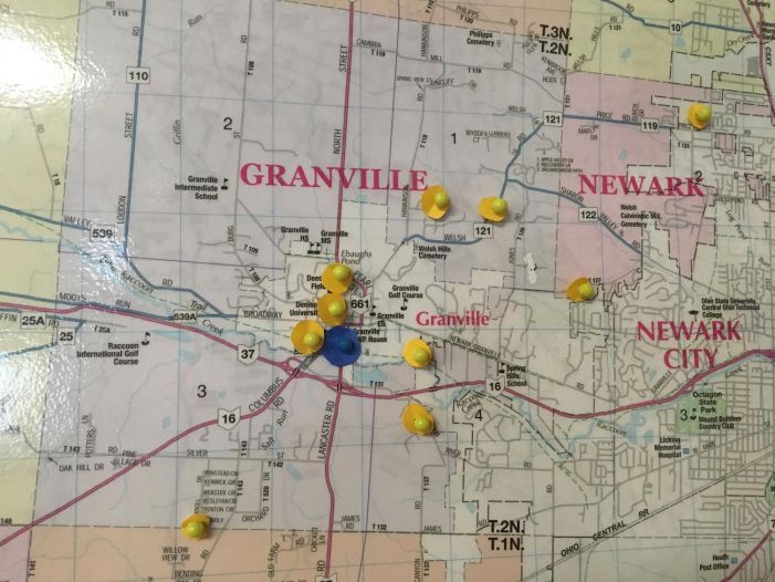 Granville Veterinary Clinic Lyme Positive Map
