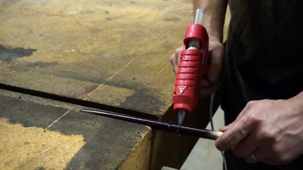 Using the glue gun