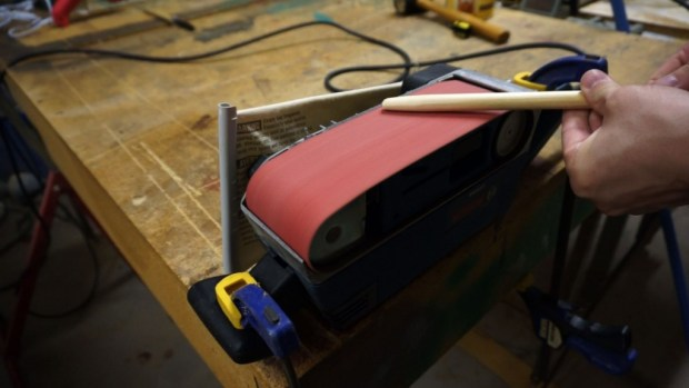 Shaping with belt sander