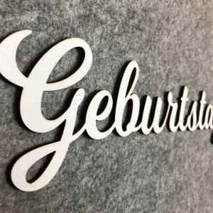 Dekoration Individueller Schriftzug aus Holz Weiß
