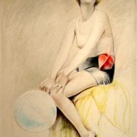 Art Deco Flapper With Ball