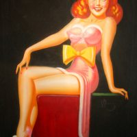 A Spicy Pulp Pin Up Girl Illustration