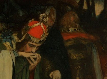 Detail of Cordelia being greeted (note hand tinting)