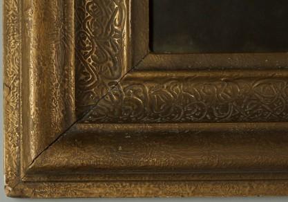 Detail of ornate original frame