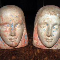 Benda Mask Decorative Bookends