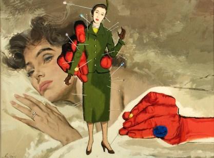 Full view of gouache illustration