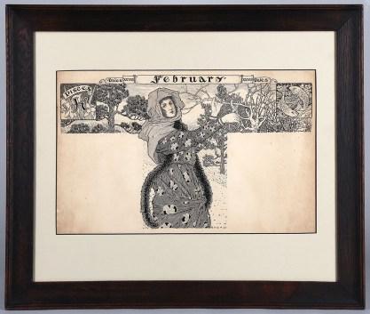 Framed in Arts & Crafts Vintage Mission Oak Frame