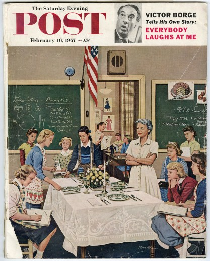 February 16, 1957 Saturday Evening Post where painting is featured in interior. Included in sale.