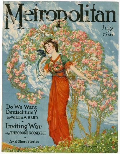 Printed version of Metropolitan Magazine July 1916 included in sale