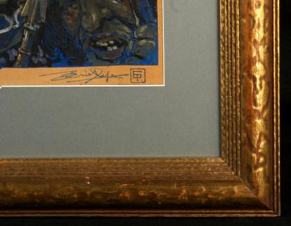 Artist's signature and monogram, lower right.
