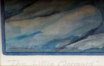 Artist's signature and date lower left in margin