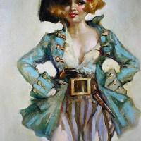 An Art Deco Pirate Girl