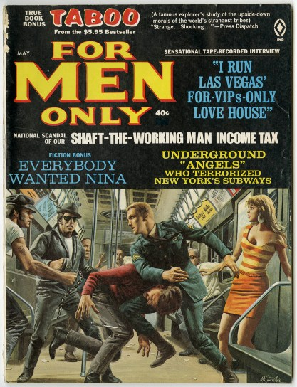 """The painting as it appeared as the Cover """"For Men Only"""""""