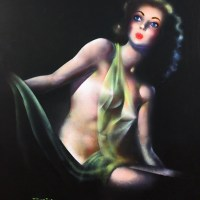 Pin Up Girl Nude by Candlelight