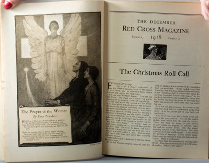 The painting as the frontispiece for The Red Cross Magazine - December, 1918 (included in sale)
