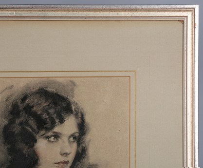 Frame profile and original french matting on Hare pastel