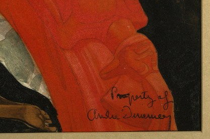 Inscribed by the artist lower left