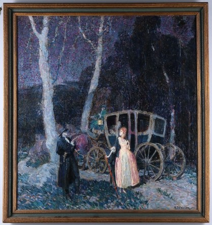 Framed in original antique frame
