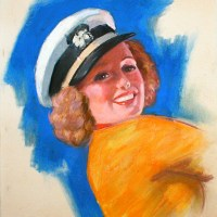 Earl Moran Sailor Girl Sketch