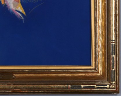 Frame profile of original art deco in aesthetic wide profile frame