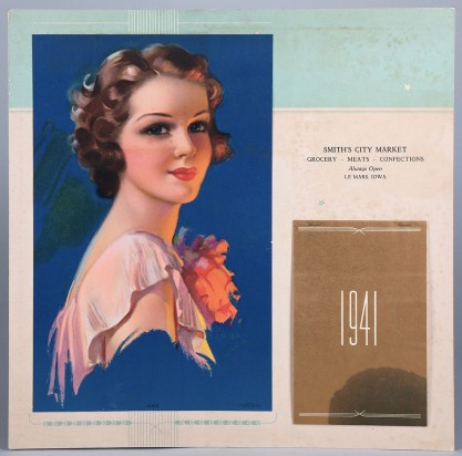 A Gerlach-Barklow dated 1941 Calendar included in sale