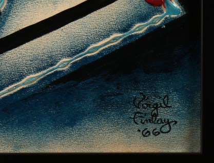 The artist's signature and date lower right